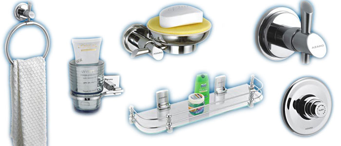 Azaro faucets manufacturer for Bathroom fitting brands in india